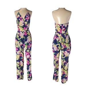 NWOT Floral Jumpsuit w/ Halter